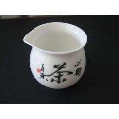"""Teiera """"lettere cinesi"""" senza coperchio di porcellana 220 ml"""