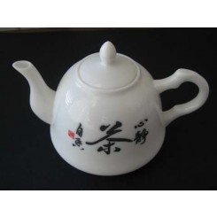 "Teiera ""lettere cinesi"" 350 ml jade porcelain"